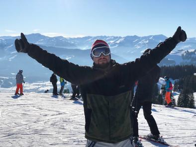 Ski fahren am Wilden Kaiser