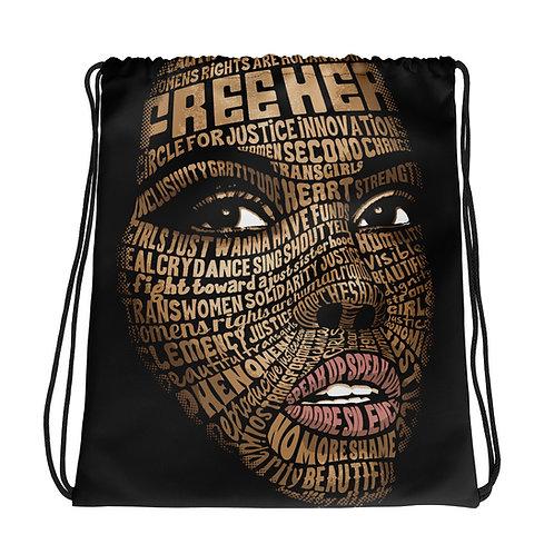 FreeHER Drawstring bag