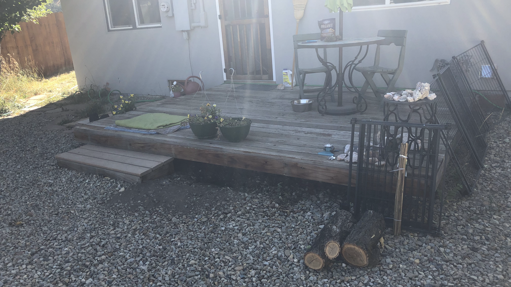Back deck before