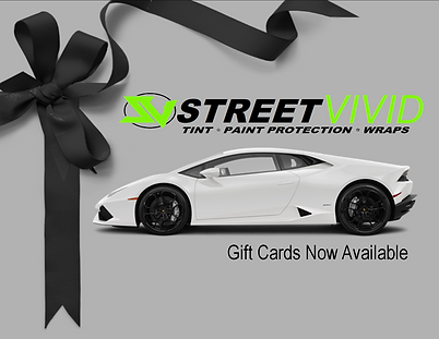 Gift Certificates, Gift Cards, Window Tinting