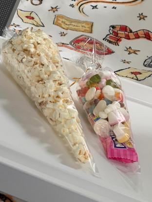 Popcorn and Sweet Cones