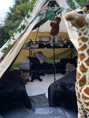 Safari Themed Sleepover Tent Outdoor Glamping