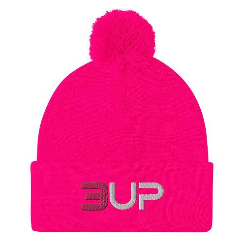 Pom Pom Knit Cap (Pink)