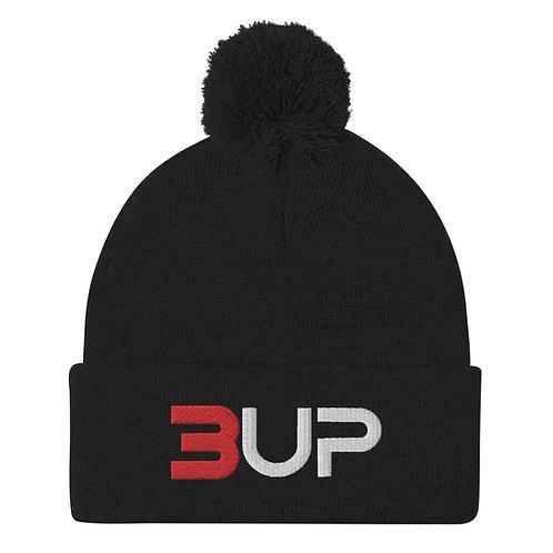 Pom Pom Knit Cap (Black)