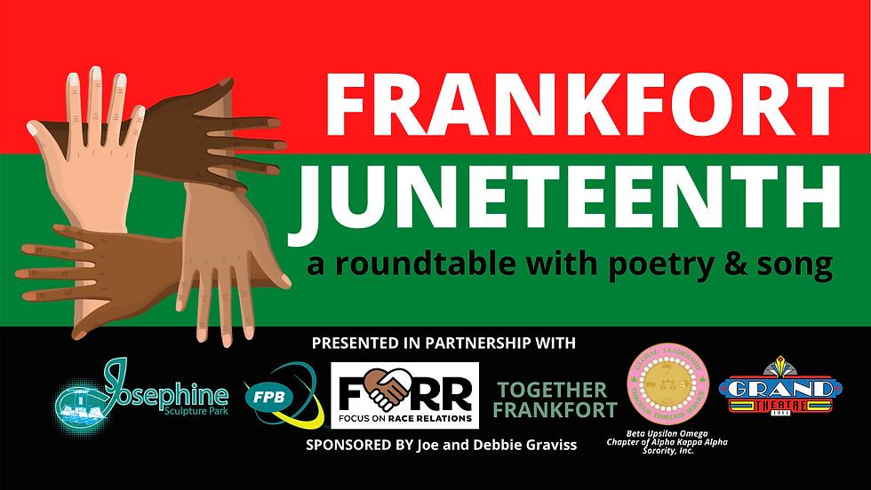 Frankfort Juneteenth Facebook event cove