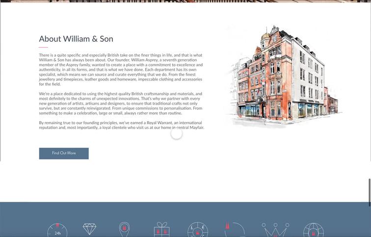 William&Son Homepage Design