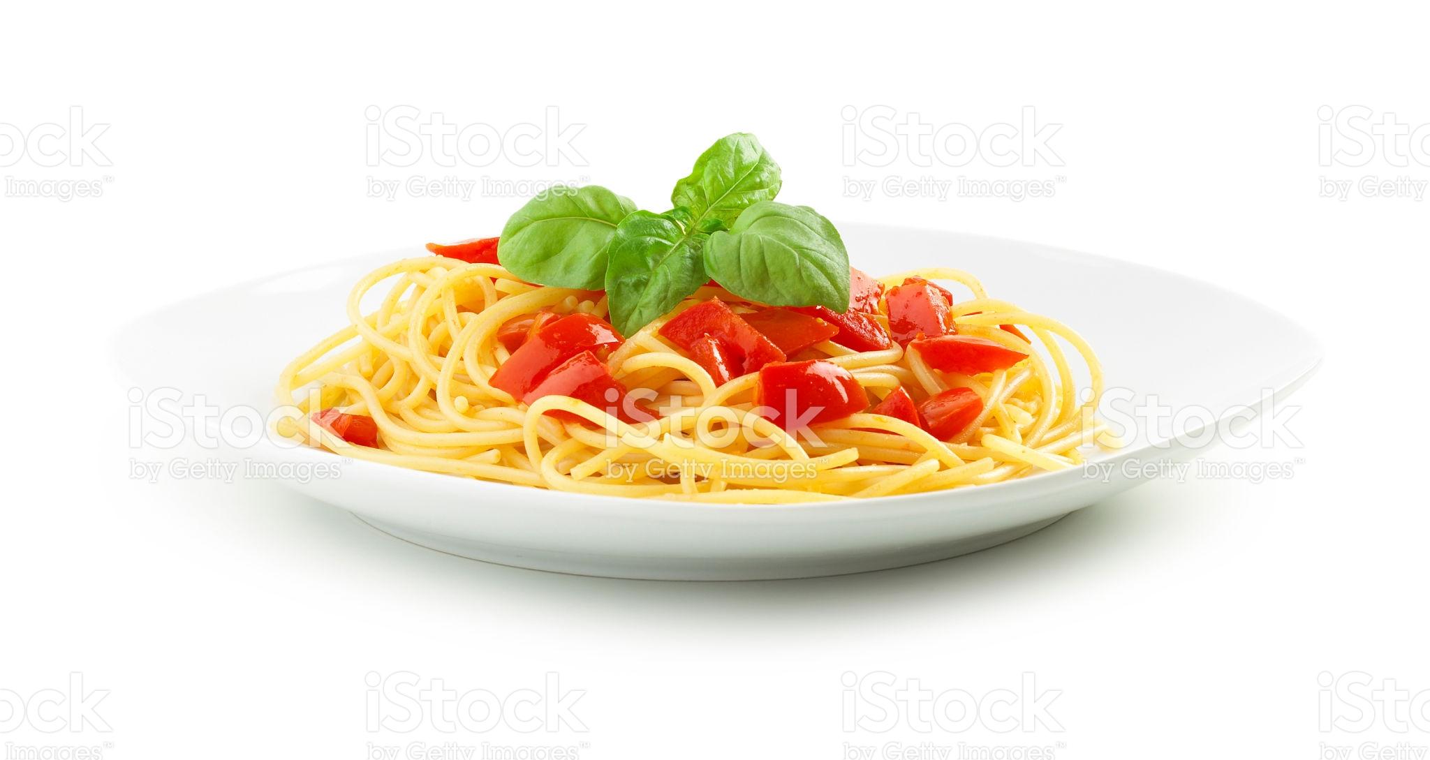 Cizrnové placičky s drcenými rajčaty a špagetami