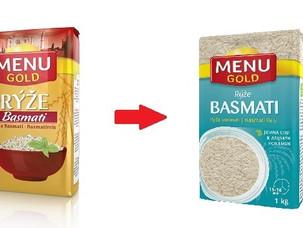 Nový kabát pro rýže Menu Gold