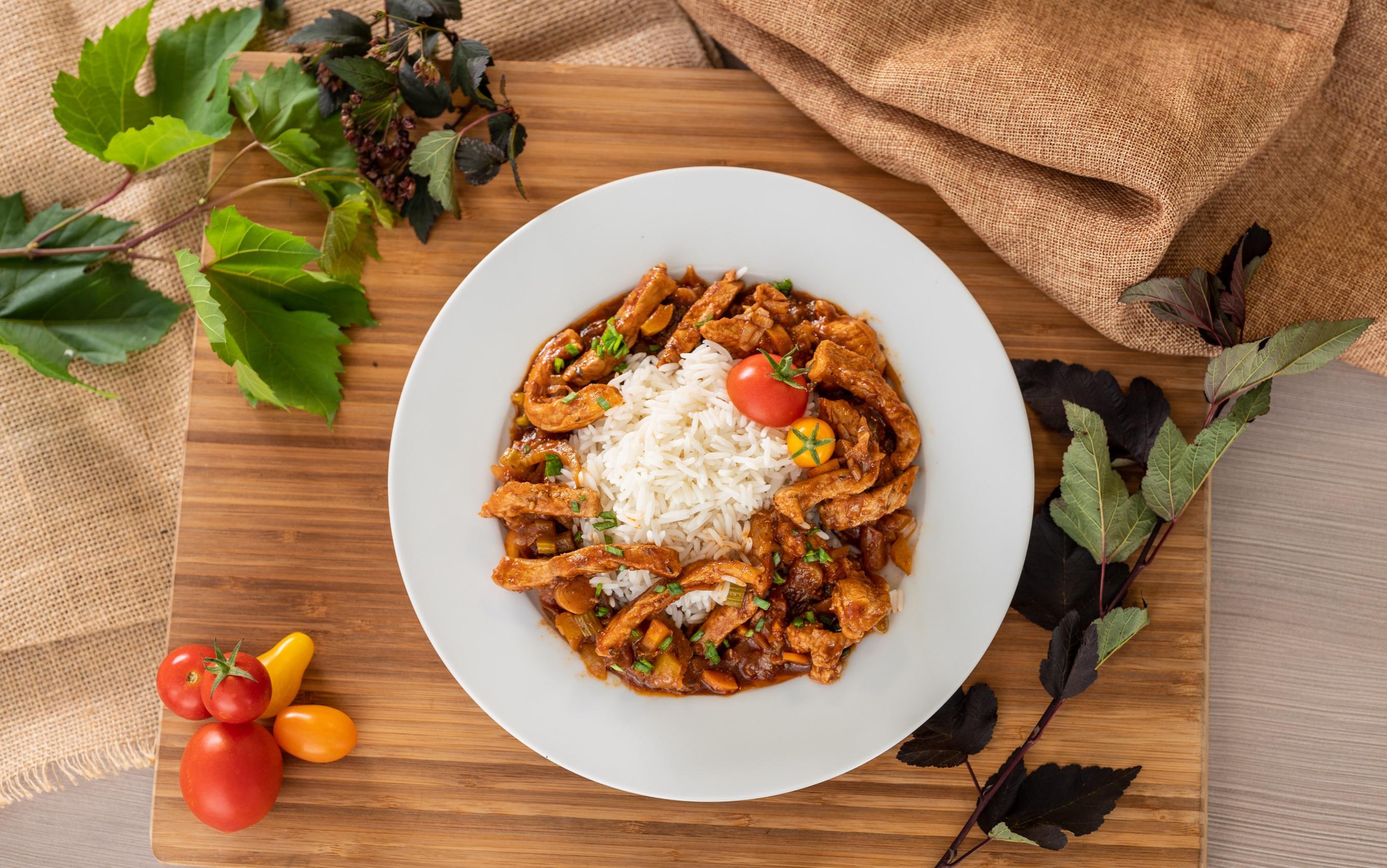 Vepřové nudličky s basmati parboiled rýží