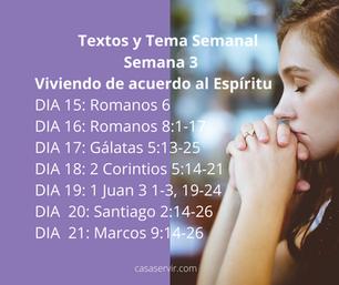Semana 3Viviendo de acuerdo al Espíritu