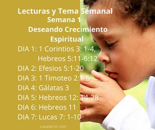 Semana 1 Deseando Crecimiento Espiritual