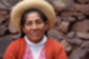 Quechua woman wearing a hat