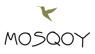 Mosqoy Youth Program logo with green hummingbird
