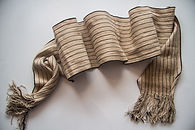Traditional beige textile scarf