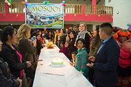 Community celebration in Ollantaytambo, Peru for Mosqoy's 10th anniversary