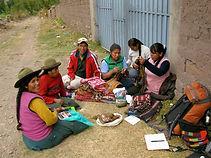 Community members taking inventory