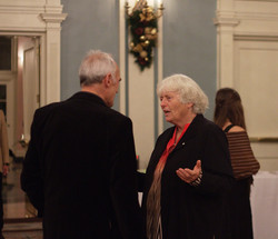 Gala attendees discussing