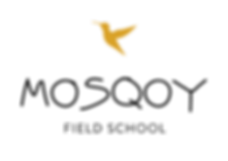 Mosqoy Field School logo with yellow hummingbird