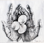 Hands with 3 eggs