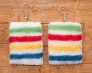 Hudson Bay Blanket Earrings