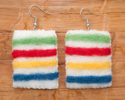 Hudson Bay Blanket Earrings