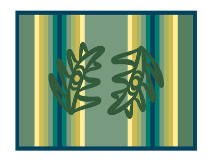 Cedar Bough Blanket Design