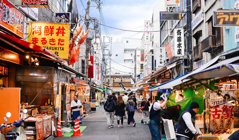 Tsukiji Market pusat makanan segar