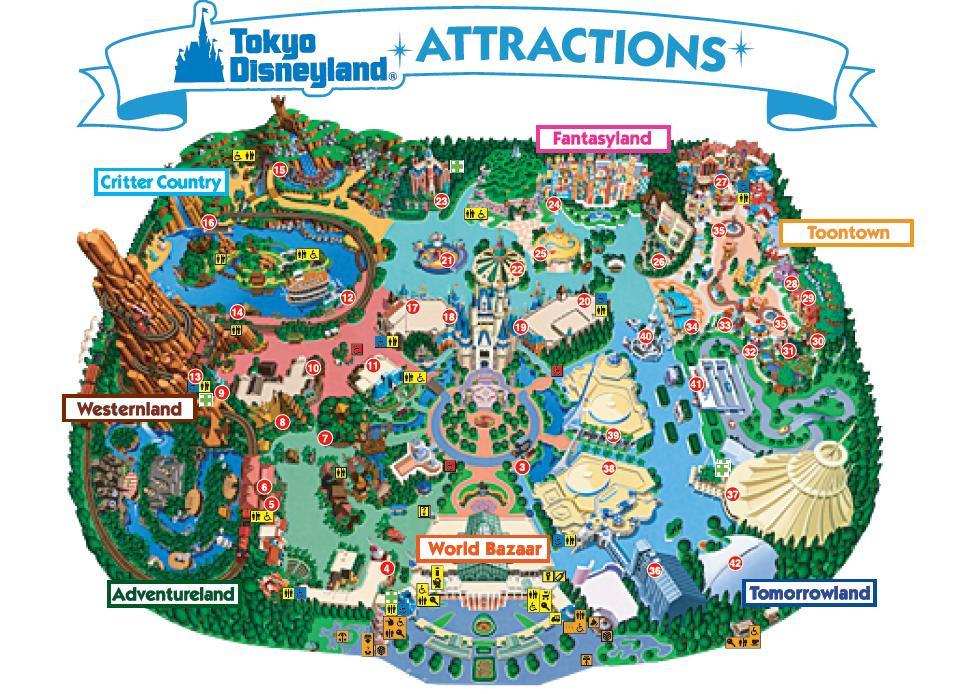 Tokyo Disneyland Map