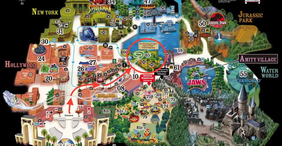 USJ Osaka Map