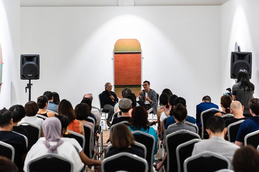 Latiff Mohidin and Khai Hori at artist t