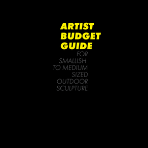BUDGET GUIDE | SMALLISH TO MEDIUM SIZED OUTDOOR SCULPTURE