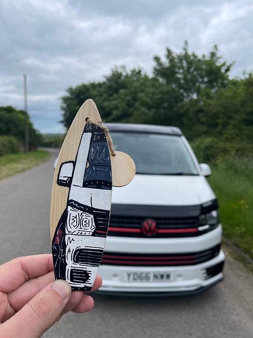 Mini Wooden Surfboard -Mini Custom Made