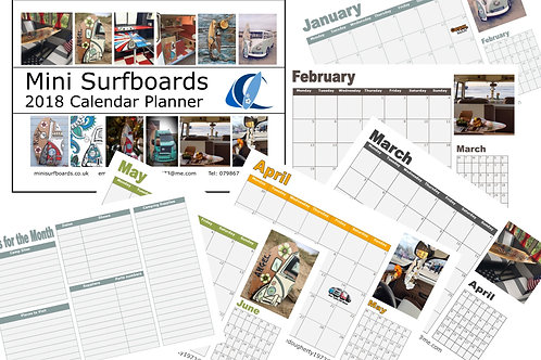 2018 Yearly Printable Planner Calendar