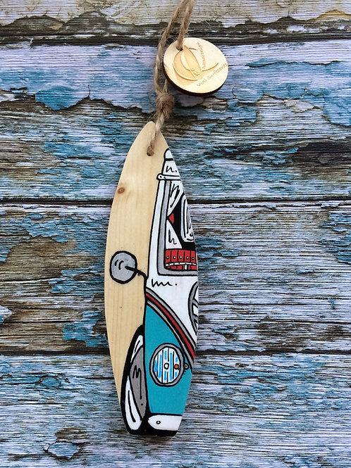 Mini Wooden Surfboard  Mirror Hangers - customised
