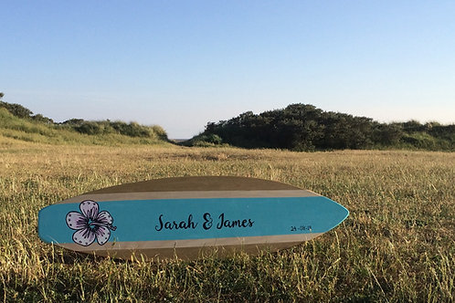 Wedding Guest Book Surfboard 1mtr x 15mm Birch Plywood Single Sided - Customised