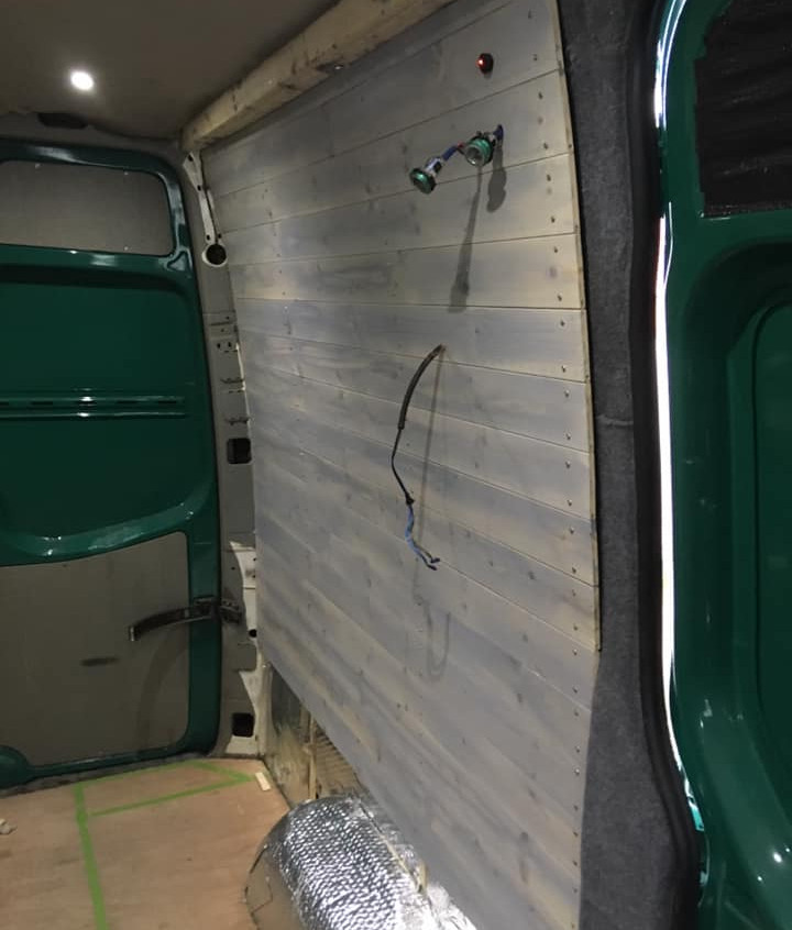 Cladding for the van