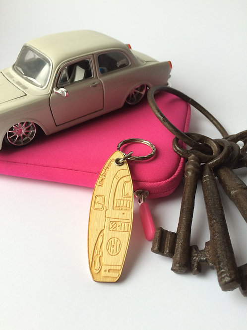 Late Bay Window Camper Van Key Ring