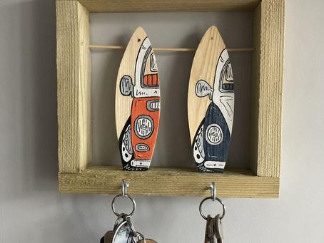 New product Alert  Custom keying hooks  that match your van or car   !    Single  keyring hooks cost