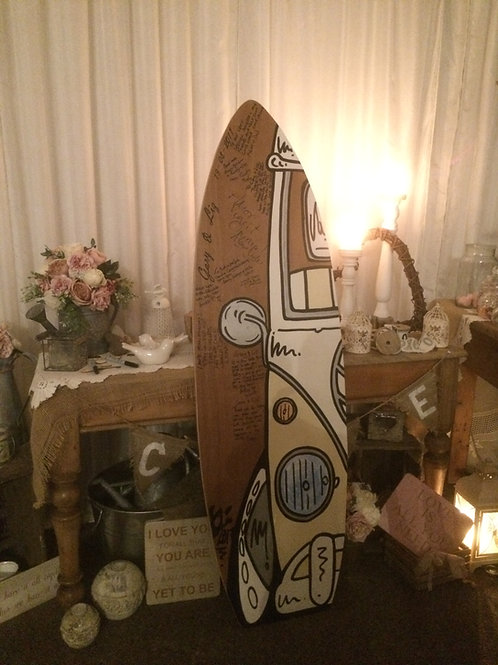 Wedding Guest Book Mega Surfboard 15 mm Birch Plywood  1.5 m