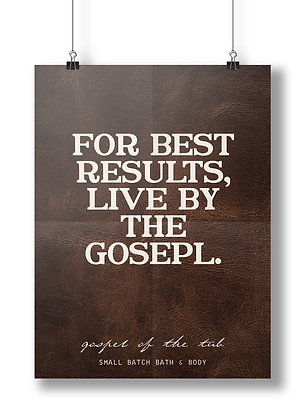 Live by the Gospel Poster-Leather Edition