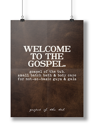 Welcome to the Gospel Sign Poster-Leather Edition