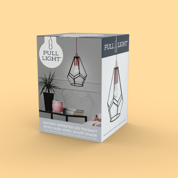 Pull Light mockup packaging