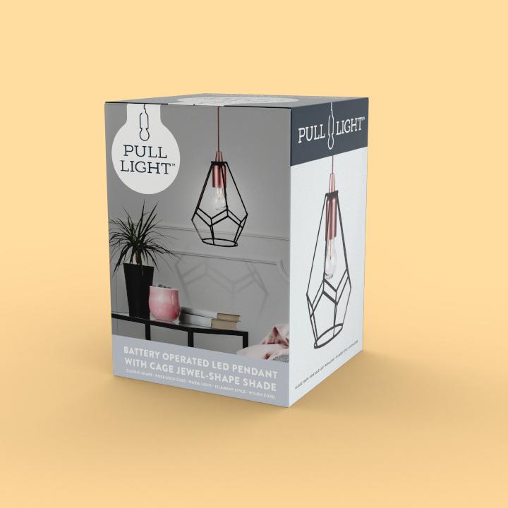 Pull Light mockup packaging