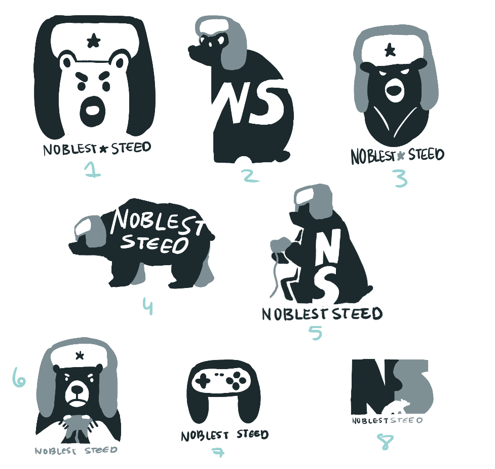 NoblestSteed logo sketches