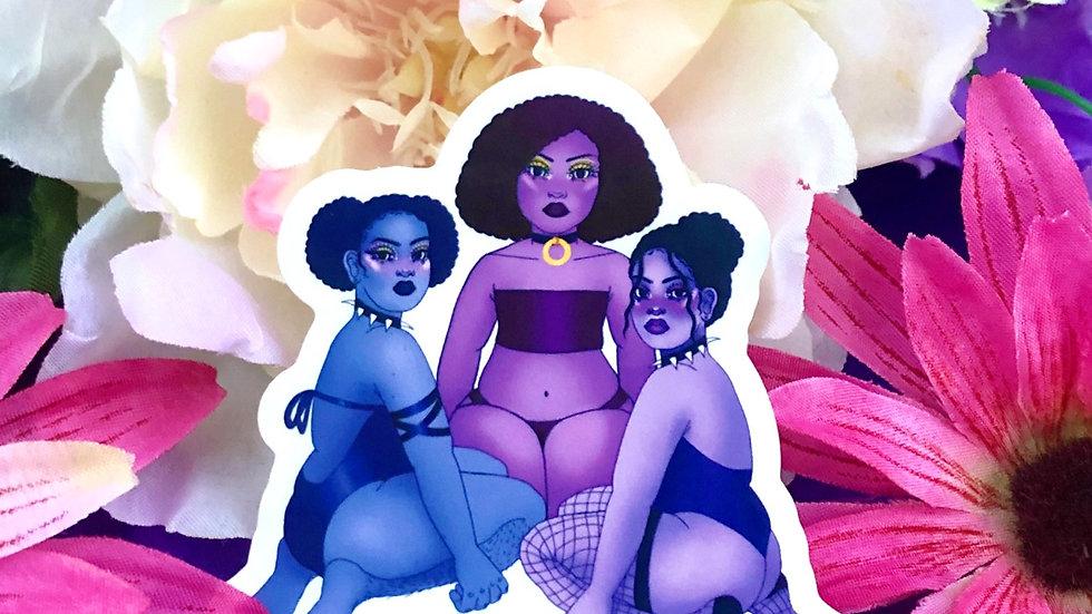 The Trio Babes Sticker