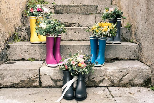Bouquet de mariée en bottes