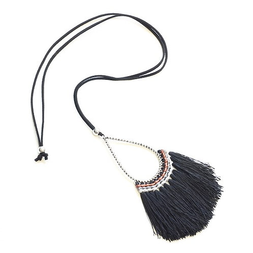 Tassel Necklace On Suede