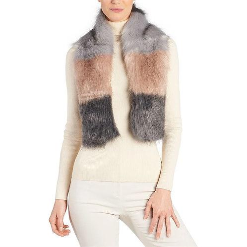 Montreal Faux Fur Color Block Scarf