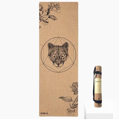 Mountain Lion Cork Yoga Mat by Scoria | 4.5mm