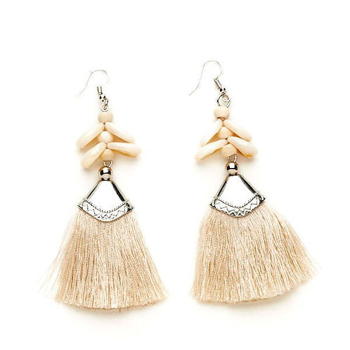 Shell & Tassel Earrings